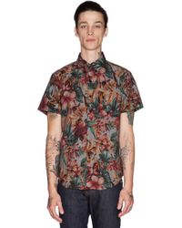 Naked & Famous Regular Shirt Ss Big Tropical - Lyst