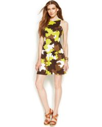 Michael Kors Michael Camoprint Scuba Dress - Lyst