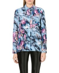 MSGM Abstract Floral Blouse Multi - Lyst