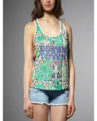 Patrizia Pepe Downtown Jungle Tank Top - Lyst