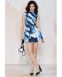 Nasty Gal Cameo Day Dreaming Neoprene Dress blue - Lyst