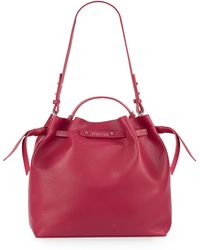 Kenneth Cole Reaction Faux Leather Bucket Bag pink - Lyst