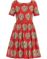 Dolce & Gabbana Sacred Heart Cotton-Poplin Dress multicolor - Lyst