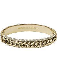 Michael Kors Curbchainpave Bangle Golden - Lyst