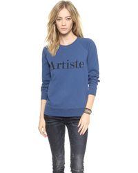 Madewell Artiste Sweatshirt  Blueblack - Lyst