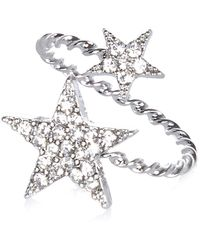 River Island Silver Tone Diamante Star Wrapped Ring - Lyst