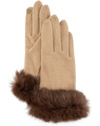Portolano | Fur-cuff Knit Tech Gloves | Lyst