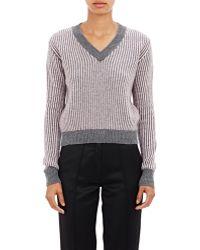 Alexander Lewis | Striped Crop Sweater | Lyst