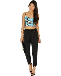 Missguided Vanora Floral Cut Out Bralet - Lyst
