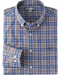 Uniqlo Men Extra Fine Cotton Broadcloth Check Long Sleeve Shirt - Lyst