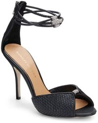 Badgley Mischka Kandyce Leather Anklestrap Sandals - Lyst