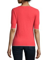 Todd And Duncan - Cashmere Fine-gauge Short-sleeve Sweater - Lyst