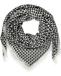 Proenza Schouler - Cream/black Gate Print Modal & Silk Wrap - Lyst