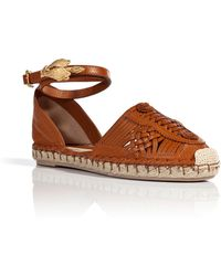 Valentino Leather Espadrilles - Lyst
