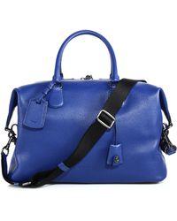 Coach Explorer Leather Duffel Bag blue - Lyst