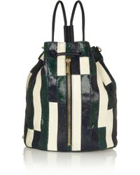 Elizabeth And James Cynnie Patchwork Snakeeffect Leather Shoulder Bag - Lyst