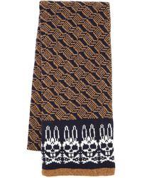 Psycho Bunny - Geometric Knit Scarf - Lyst