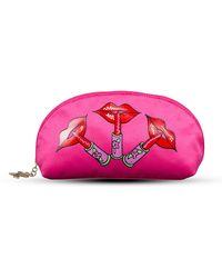 Zandra Rhodes - Lippy Half Moon Cosmetic Bag - Lyst