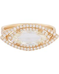 Mp Mineraux - Yellow Diamond Marquise & Gold Ring - Lyst