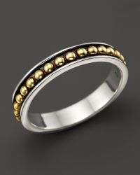 Lagos 18k Gold and Sterling Silver Enso Stack Ring - Lyst