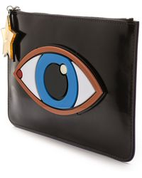 Yazbukey Eye Clutch Black - Lyst
