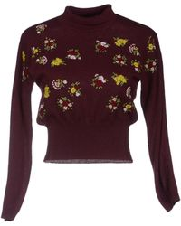 Miu Miu Purple Turtleneck - Lyst