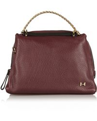 Halston Heritage Two-tone Textured-leather Tote - Lyst