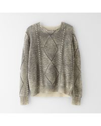 Mm6 By Maison Martin Margiela Cable Sweater - Lyst