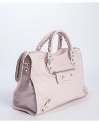 Balenciaga Pink Leather Giant City Convertible Shoulder Bag - Lyst