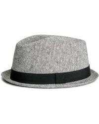 H&M Hat In A Linen Blend - Lyst