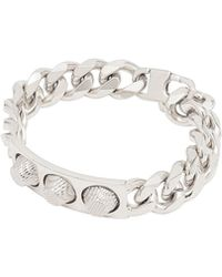 Balenciaga Classic Silver 3 Studs Bracelet - Lyst