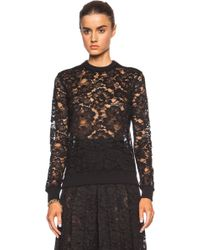 Givenchy Lace Sweatshirt - Lyst