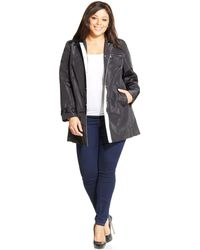 Jones New York Signature Plus Size Snap-Front Jacket - Lyst