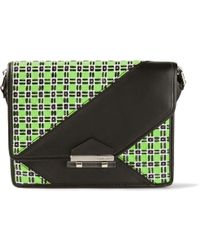 Carven Geometric Tweed Satchel - Lyst