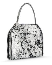 Stella McCartney Boo Faux Python Shoulder Bag gray - Lyst