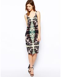 Asos Hawaiian Palm Print Slip Dress - Lyst