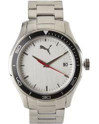 PUMA - Pu102571003 Silver-Tone Watch - Lyst