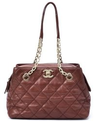 Chanel Pre-Owned Vintage Quilted Tote - Lyst