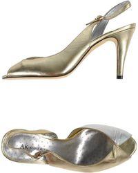 Anne Klein Sandals gold - Lyst
