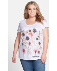 DKNY 'Spring Garden' Print Tee white - Lyst