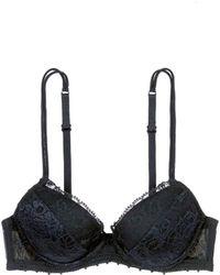 La Perla 'Maharani' Lace Tulle Push Up Bra black - Lyst