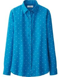 Uniqlo Premium Linen Patterned Long Sleeve Shirt - Lyst
