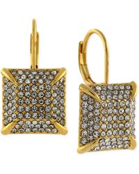 Vince Camuto - Gold-tone Pave Square Drop Earrings - Lyst