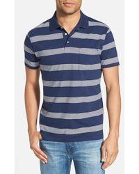 Gant Rugger Stripe Pocket Jersey Polo - Lyst