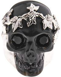 Alexander McQueen Ivy Skull Ring - Lyst