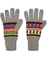 Penfield | Light Grey Mera Neon Knitted Gloves | Lyst