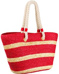 Bikini.com - Straw Tote With Rope Handle - Lyst