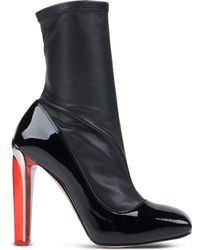 Alexander McQueen | Geometric-Heeled Leather Ankle Boots | Lyst