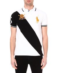 Ralph Lauren Customfit Cotton Polo Shirt Whitepolo Blac - Lyst