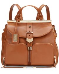 Badgley Mischka Helena Nappa Leather Convertible Backpack - Lyst
